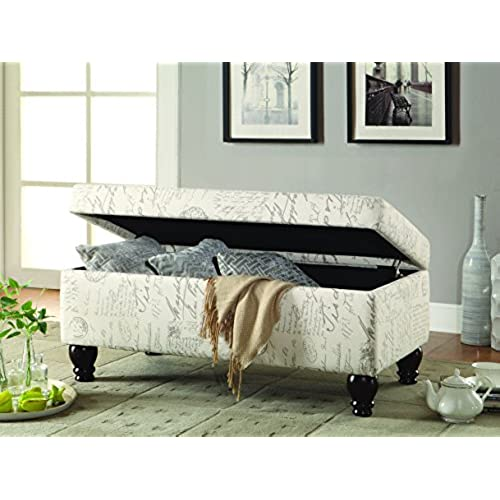 End Of Bed Storage Bench Amazon Com
