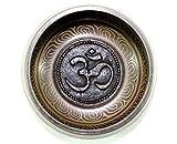Tibetan singing bowl Hindu OM symbol 4