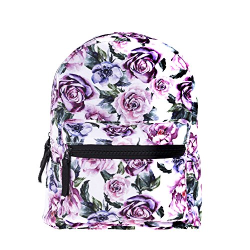 Cute 10 inch mini pack bag backpack for grils children and adult (flower) ()