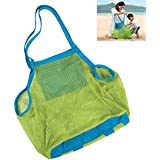 "Shindel 18"" Beach Mesh Bag ,Sand Away Tote Bag,Shell Bag for the Beach, Pool, Boat - Perfect for Holding Childrens' Toys (Large)"