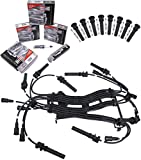 APDTY Tune Up Kit Includes 16 OEM Spark Plugs, 16 Ignition Wires & COP Coil On Plug Boots Fits 2003-2005 Dodge Ram Pickups With 5.7L Hemi / 2004-2005 Dodge Durango With 5.7L Hemi
