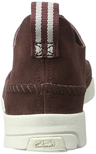 35 5 Clarks Femme Sneakers Flex EU Trigenic Basses Rouge Maple Burgundy Beige xq6Hfxw