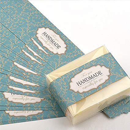 Chwoorim - Etiquetas de papel para embalaje de jabón, 20 hojas, para jabón casero, Especially for You, Mediano