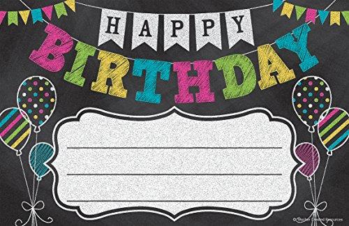 Chalkboard Brights Happy Birthday Awards]()