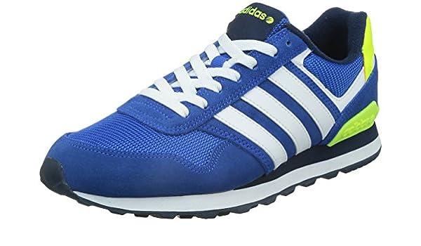 adidas 10K - Zapatillas para Hombre, Color Azul/Blanco/Amarillo, Talla 48: Amazon.es: Zapatos y complementos