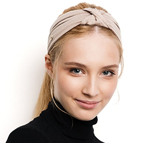 BLOM Original. Women's Headband for Yoga or Fashion, Workout or Travel. Happy Head Guarantee Designer Style & Quality. (Taupe)