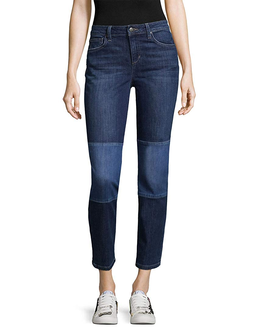 Lana Joes Jeans Straight Ankle Patch Knee Denim Pants