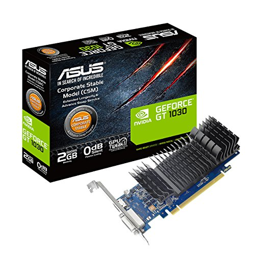 ASUS GeForce GT 1030 2GB GDDR5 HDMI DVI Graphics Card (GT1030-2G-CSM) (Best Game Booster For Cs Go)