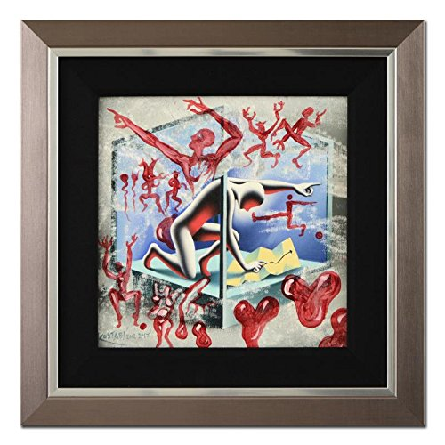 Roy Lichtenstein Lithograph - MARK KOSTABI signed ORIGINAL OIL PAINTING on Canvas FRAMED COA IF ALL ELSE FAILS