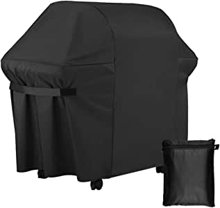 superart BBQ Gas Grill Cover 60 Inch Heavy Duty Waterproof Weather Barbeque Grill Covers for Outdoor Patio Home Durable Black