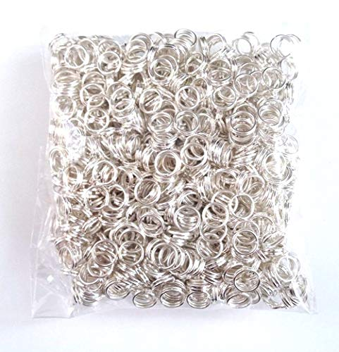 1000 pcs 5mm Silver Plated Split Jump Rings Jewelry Findings Ring Tools Double Loop Jump Rings Necklace Supplies Tools Craft Hardware 37d