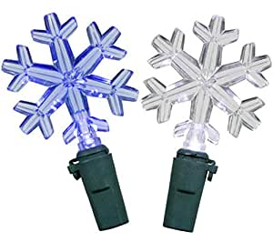 89150 - GE Color Choice® LED Snowflake Icicle-Style Lights ...  |Snowflake Blue And White Lights