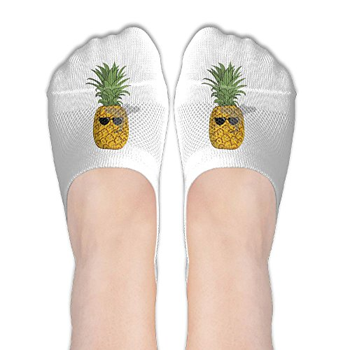 (Cartoon Pineapple Smoke Unique Womens Athletic Non Slip Ankle Compression Low Cut Loafer Socks For Yoga Train Hiking Cycling Running Sports Soccer)