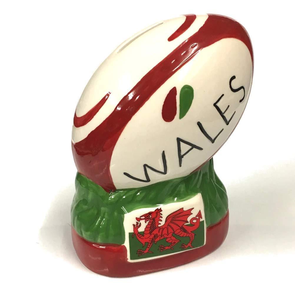 Wg597 Pendragon Pays de Galles Ballon de rugby Droit Tirelire