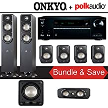 Polk Audio Signature S50 7.1-Ch Home Theater Speaker System with Onkyo TX-NR777 7.2-Ch Network AV Receiver