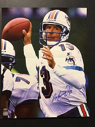 Dan Marino Signed Football (Autographed/Signed Dan Marino DAMAGED Miami Dolphins 16x20 Football Photo Marino Holo Hologram COA)