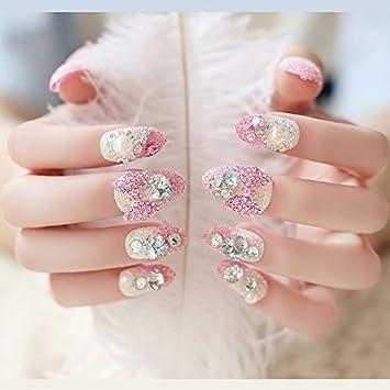 Amazon Dazzling Wedding French Nail Tips 3d Crystal Decoration