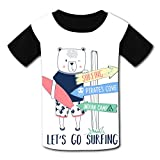 riverccc6.1500 Surfer Bear Let's Go Surfing Youth T-Shirt Boys Girls Tee
