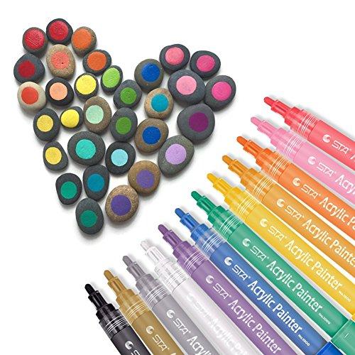 Acrylic Paint Markers Set - Permanent Paint Pens for ...