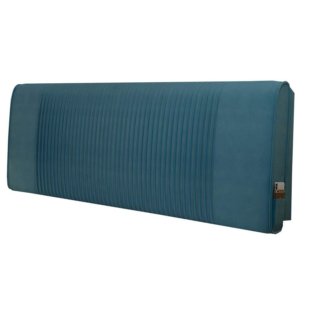 ベッドサイドクッション ヘッドボード 大きいあと振れ止め 群がる くさび 人間工学 ウエストサポートクッション 姿勢補正 読書枕,Blue,90cm/B B07Q45T6LY Blue 90cm/B