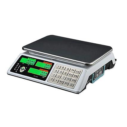 LLRDIAN Balanzas electrónicas Balanzas comerciales de Venta de Verduras 30 kg. Precisión del hogar.