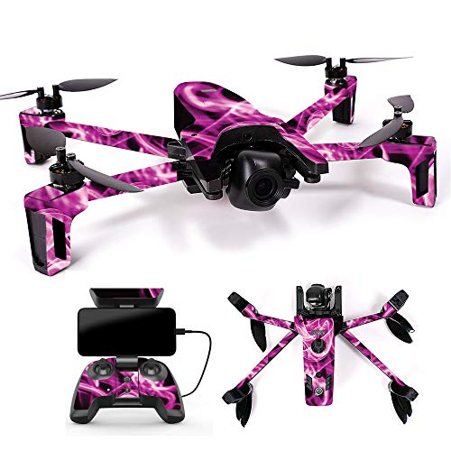 MightySkins Skin for Parrot Anafi Drone – Pink Flames | Protective, Durable, and Unique Vinyl Decal wrap Cover | Easy to Apply, Remove, and Change Styles | Made in The USA Review