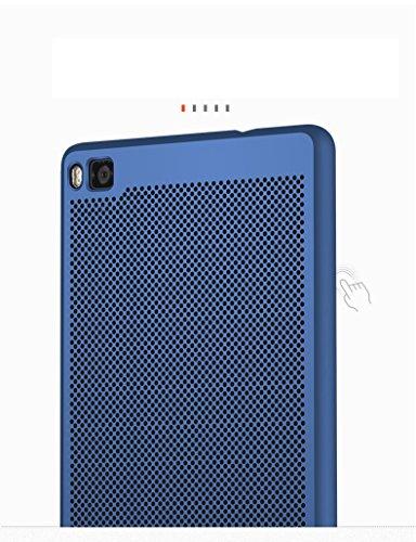 Funda Huawei P8,Alta Calidad Ultra Slim Anti-Rasguño y Resistente Huellas Dactilares Totalmente Protectora Caso de Plástico Duro Case,Cuadrícula Disipación de calor Antideslizante Cover(YQ4-4) E