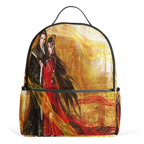 Fantasy Couple Full HD Wallpaper Backpack Womens Laptop Daypack School Hiking Mens Travel Bags