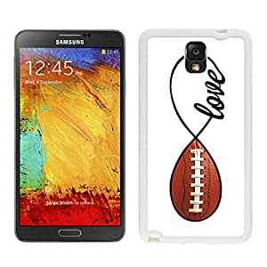 Romantic American Football Infinity Love Samsung Galaxy Note 3 Case White Cover