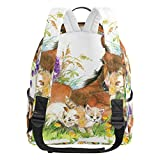 JSTEL Horse School Backpacks for Boys Girls Bookbag