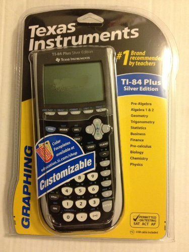 TI-84 Plus Graphing Calculator in Black by Texas Instruments