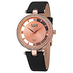 Genuine Diamond Marker Swarovski Crystal Studded Watch