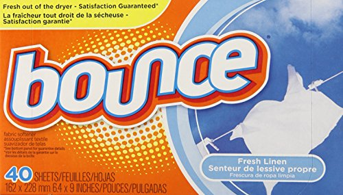 Bounce Fresh Linen Sheets, 40-Count (Pack of 12)