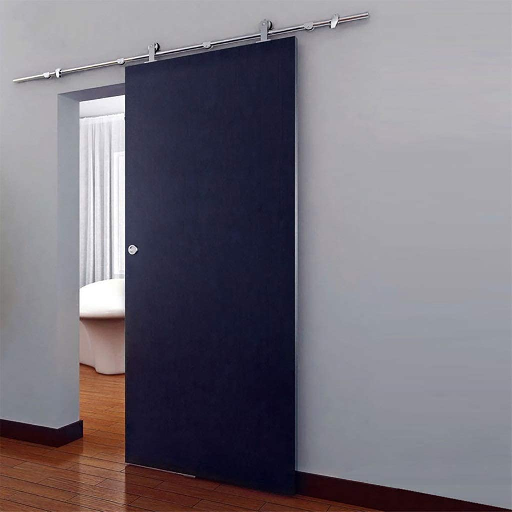 Herraje para Puerta Corredera Kit Kit de accesorios de hardware de riel de puerta corredera de acero inoxidable de 150-400 cm Puerta de granero Puerta telescópica Carril colgante Silenciador de doble: Amazon.es: