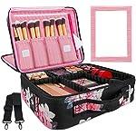 Kootek 2 Layers Travel Makeup Bag