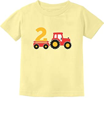 2nd Birthday Gift Construction Party 2 Year Old Boy Toddler Infant Kids T Shirt