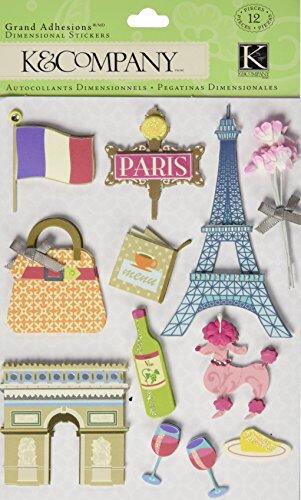K&Company Happy Trails Paris Grand Adhesions Stickers ()