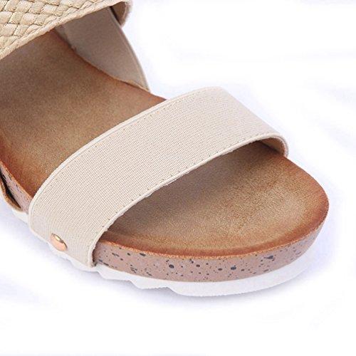 Slip Confort Femmes Flop Plates Beige Thong Plage Été Sandales Sandales Toe Peep Flip Appartements Thong JRenok T4qRzIp