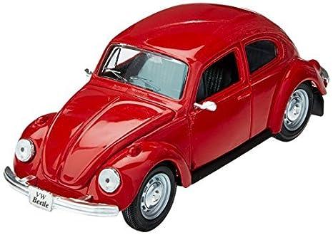 1973 Volkswagen Beetle >> Amazon Com 1973 Volkswagen Vw Beetle Red 1 24 Diecast Model