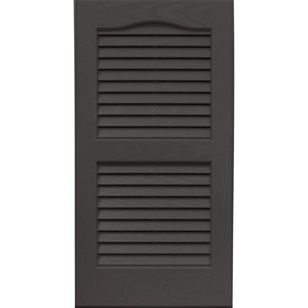 Vantage 0114027018 14X27 Louver Arch Shutter/Pair 018, Charcoal