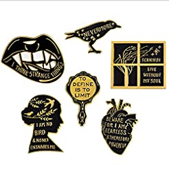 Romanticworks Enamel Lapel Pin Set Badge...