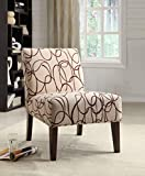 Cheap ACME 59070 Aberly Accent Chair, Fabric & Espresso
