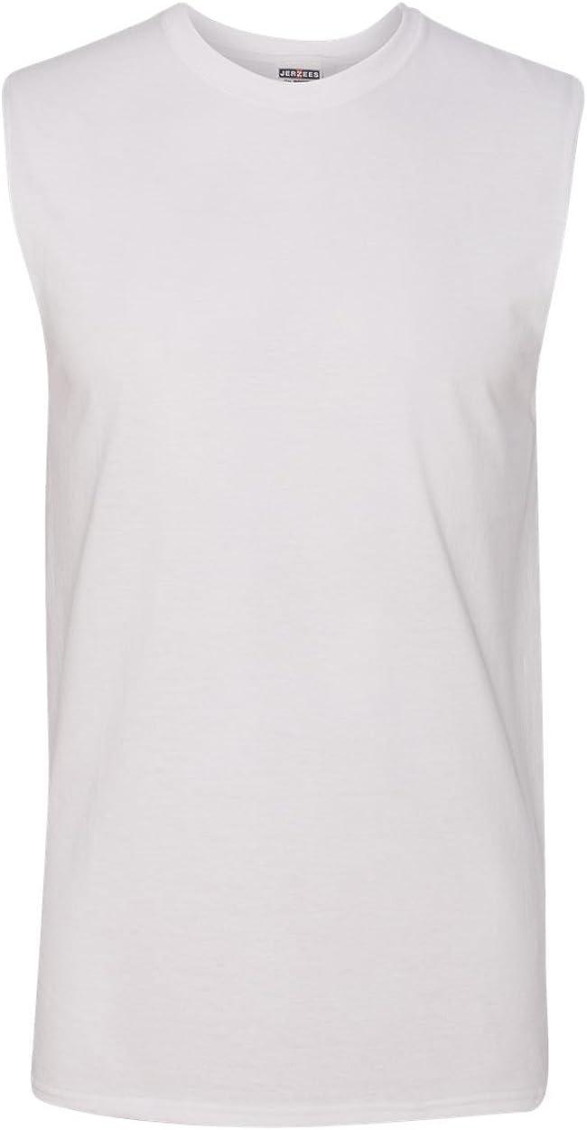 Jerzees 29SR Adult Sleeveless Shooter T-Shirt - White - 3XL