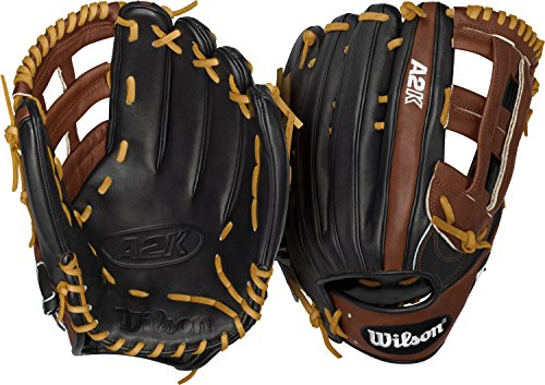 Wilson 2016 A2k 1799 Outfield Baseball Glove, Blackwalnutblonde, Right Hand Thrower