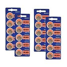 Sony CR1632 3V Lithium Battery 20 Batteries