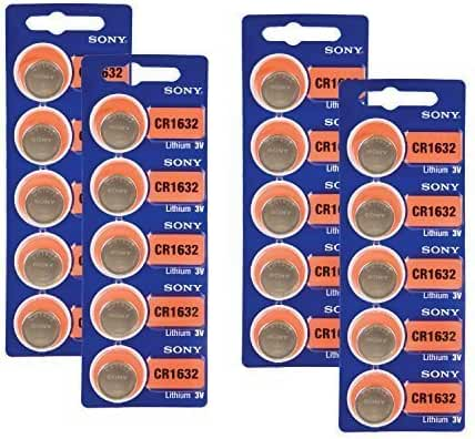 20 SONY CR1632 3 Volt Lithium Coin Batteries