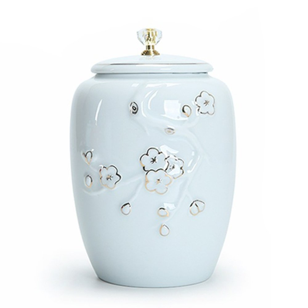Funeral urns - ashes - cremation tanks - adults - ceramics and hand-painted productions (lifetime elegant white)