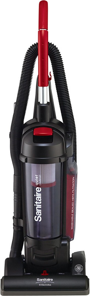 Sanitaire SC5745A Commercial Quite Upright Bagless Vacuum Cleaner with Tools and 10 Amp Motor, 13'' Cleaning Path by Sanitaire