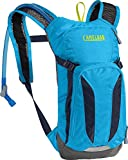 CamelBak Kids Mini M.U.L.E. Crux Reservoir Hydration Pack, Atomic Blue/Navy Blazer, 1.5 L/50 oz