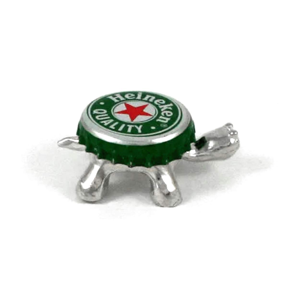 Handcrafted Pewter Made in USA Recycled Bottle Cap Turtle Gift Boxed with Story Card Magnetic Change the Cap